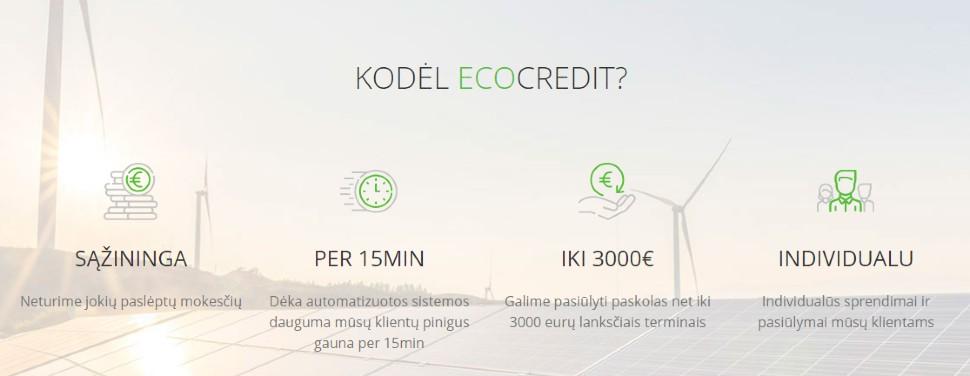 Ecocredit.lt paskolos